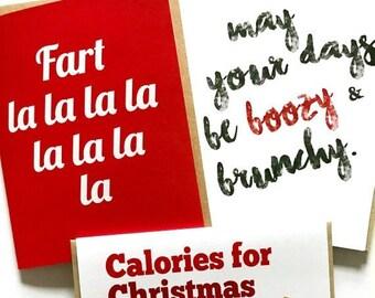 SET OF Any 10 Holiday Cards - Bulk Holiday Card Set - Hanukkah Card Set - Christmas Card Pack - Holiday Card Set