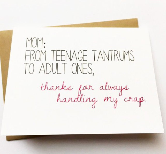 Mom Card Funny Card For Mom Mom Birthday Card Funny Etsy