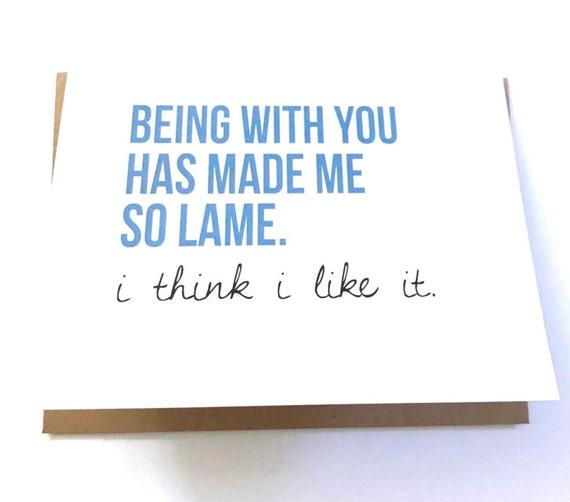 Valentine I Love You Card Funny Spouse