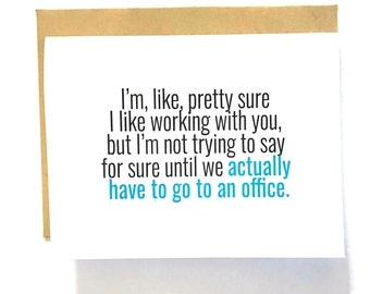 Virtual Coworker - Back to Work 2021 - Work from Home Card - Best Coworker Award - #1 Colleague Card - Funny Card for Boss Day