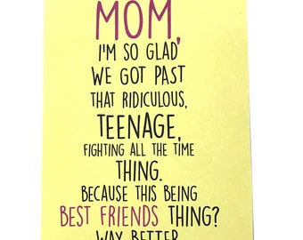 Mom Card - Mother's Day Card - Mom Birthday Card - Funny Card - Card for Mother - Mother's Day