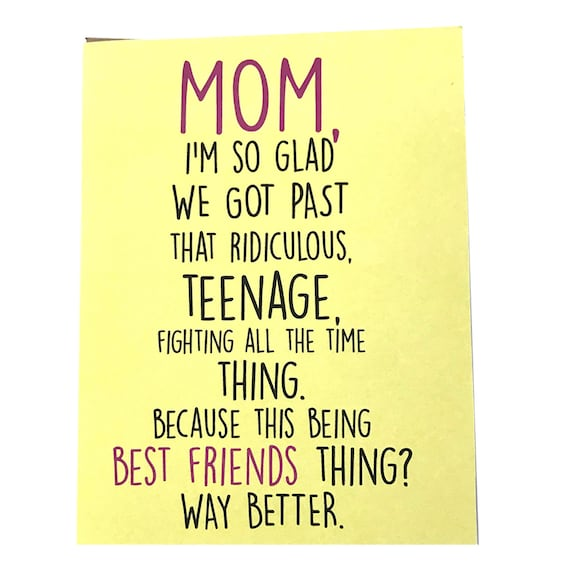 Mom Card Mothers Day Birthday Funny