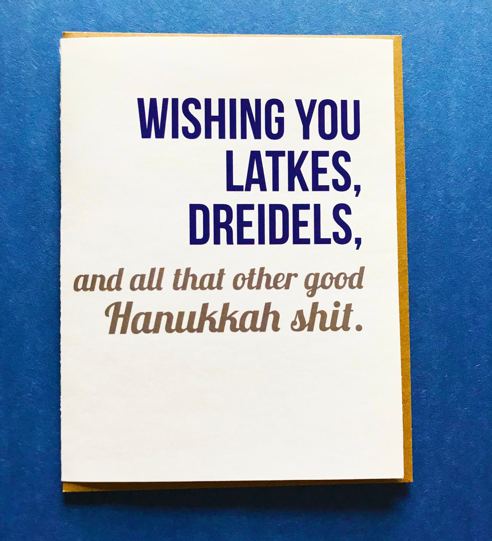 Humor Hanukkah Card Funny Holiday Card Hanukkah Card Etsy