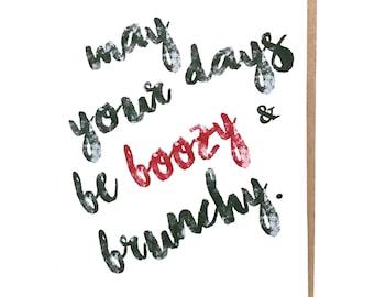 Funny Christmas Card - Boozy Holiday Card - Brunch Card - Holiday Card - Holiday Card Pack