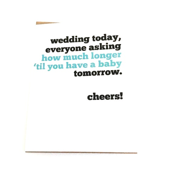 Congratulations New Wife Friend/'s Wedding Pregnant For Bride Bridal Shower Congrats on Marriage Wedding Gift Card Funny Wedding Card