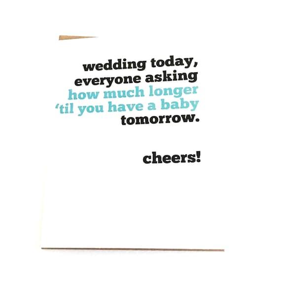 Funny Wedding Card Funny Bridal Shower Card Funny Wedding Etsy