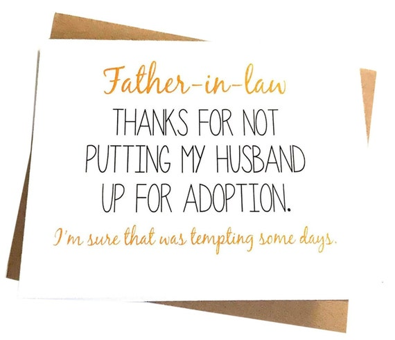 Father In Law Card For Funny