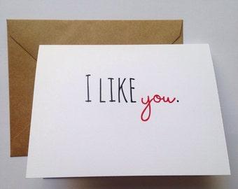 Funny Valentine - Funny I Love You Card - Snarky Card - Funny Friend Card - Boyfriend Husband Card
