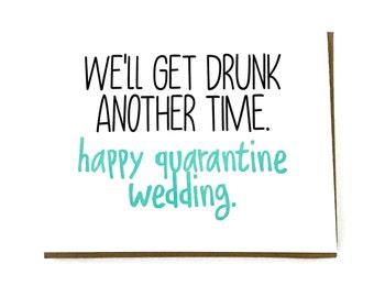 Bride 2020 - Groom 2020 - Quarantine Wedding Card - Cancelled Postponed Wedding - Engaged 2020 - Social Distance Wedding - Virtual Wedding