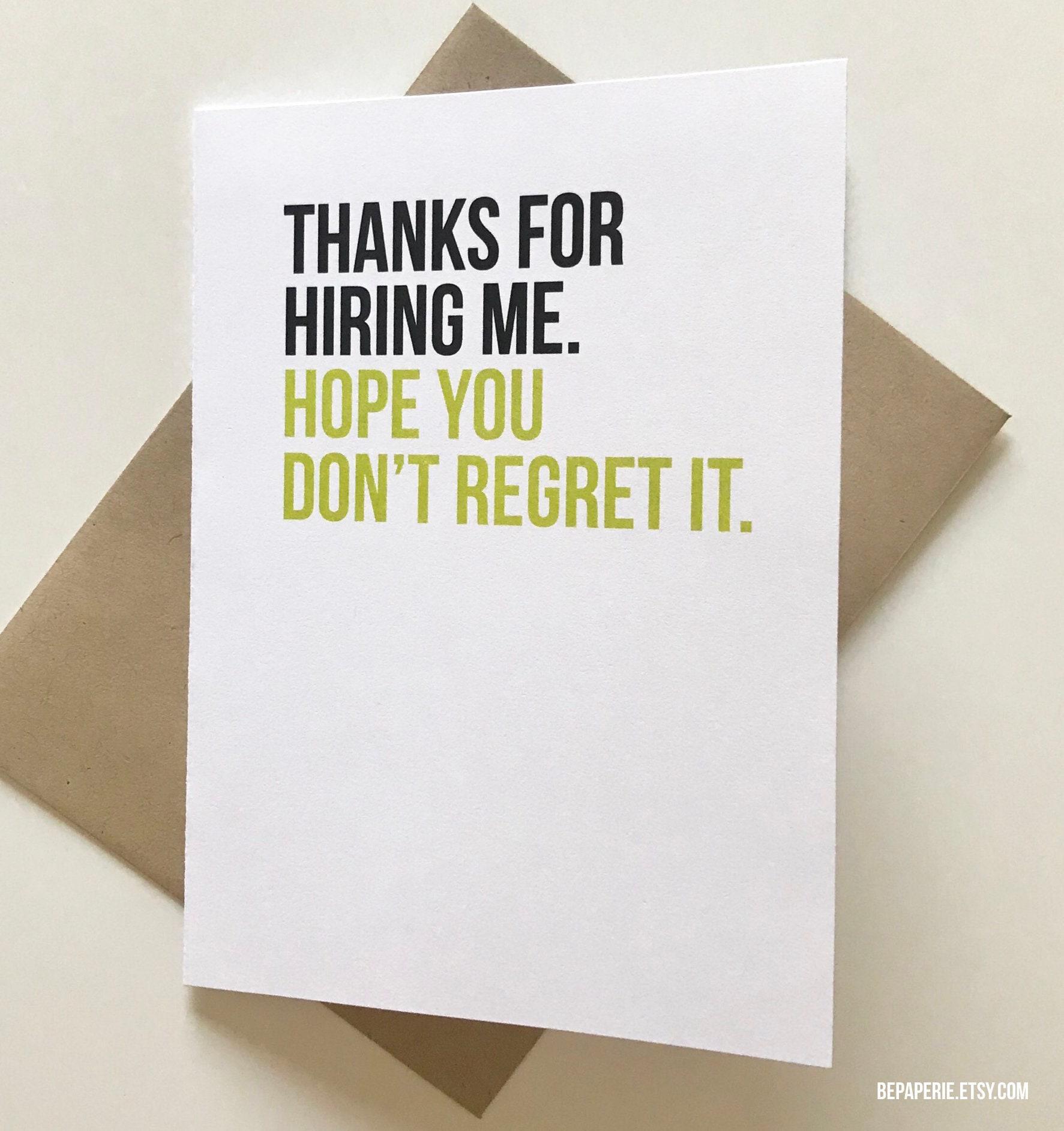 Boss Card Supervisor Card Mentor Thank You Card Funny Etsy