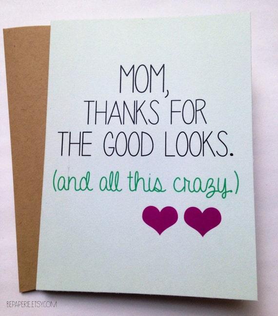 Snarky Mom Card Mothers Day Card Mom Birthday Card Etsy