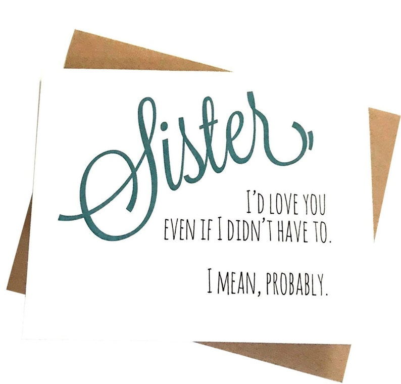 Funny Sister Card Birthday