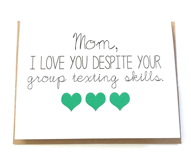 Funny Mom Card Mothers Day Birthday
