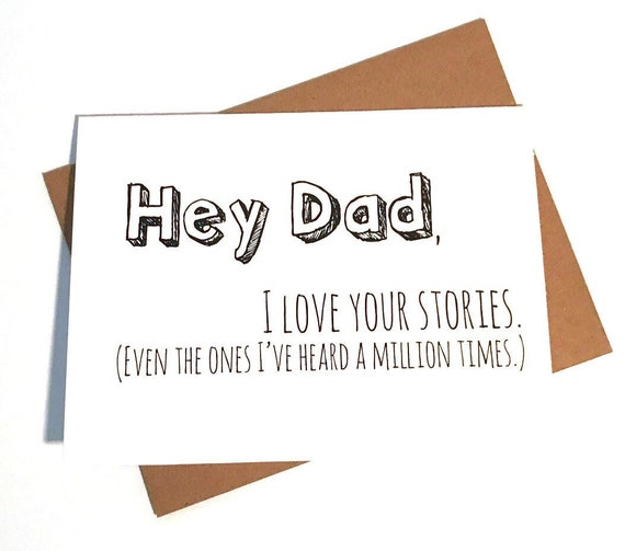 Dad Card Fathers Day Card Dad Birthday Card Funny Etsy