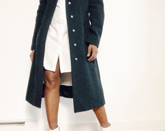 Italian Large women felt wool coat Women clothing 1990s Made in Italy