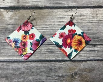 Small Floral dangle earrings