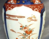 Small Asian Porcelain Imari Hand Painted Miniature Urn Vase Chinese or Japanese