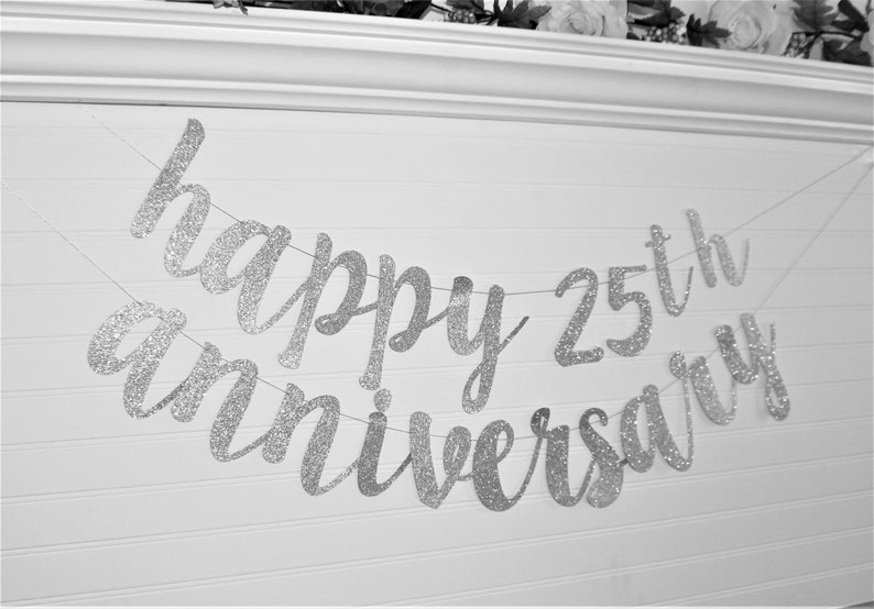 Custom Anniversary Banner WEDDING ANNIVERSARY BANNER G6 Happy Anniversary Banner Anniversary Party Anniversary Party Decoration