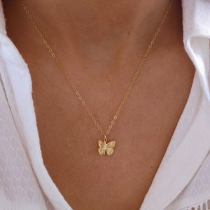 Bridesmaid Gift Geometric Necklace Dainty Chain Butterfly Necklace Christmas Butterfly Jewelry Butterfly Monarch Mother Gift