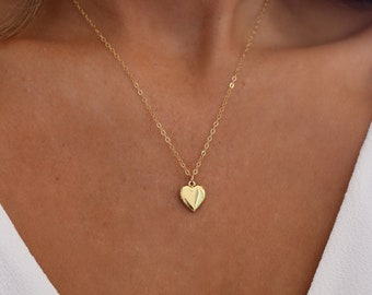71d9cec365186 Gold or Silver Heart Locket Necklace