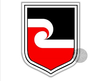 Set of 4x sticker vinyl car bumper decal outdoor car moto world flag maori