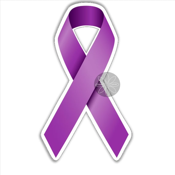 Epilepsy Awareness Ribbon  Vinyl Wall Decal or Car Sticker