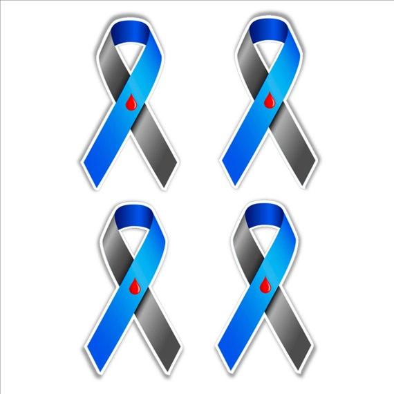 Diabetes Awareness Ribbon Set Of 4 Vinyl Stickers For Cars Etsy