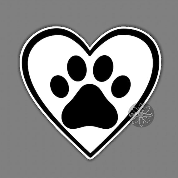 Custom Personalized Pet Dog Name Vinyl Decal Sticker Car Truck Van Paw print cat