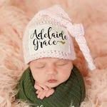 Newborn Girl Hat, Personalized Newborn Hat, Newborn Name Hat, Baby Name Hospital Hat, Personalized Newborn Hospital Hat, Newborn Hat, Pink
