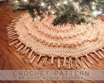 Boho Christmas Tree Skirt Crochet Pattern, Bohemian Style, Boho Christmas Decor, Crochet Christmas Pattern, Boho, Minimalism, Eclectic Style