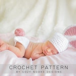 Newborn Bunny Set Pattern, Crochet Bunny Outfit Pattern, Crochet Bunny Pattern, Crochet Baby Bunny Pattern, Bunny Set Pattern, Bunny Outfit