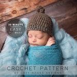 Quick Newborn Knot Hat Pattern, Crochet Baby Hat Pattern, Newborn Crochet Hat Pattern, Baby Crochet Hat Pattern, Quick Crochet Pattern, Easy