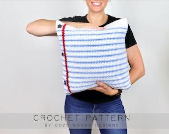 Paper Pillow Crochet Pattern, Back to School Crochet Pattern, Teacher Crochet Pattern, Crochet Pillow, Classroom Decor, Beginner Crochet