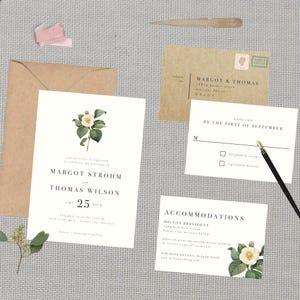 Vintage Wedding Boho Botanical Wedding Suite  DOWN PAYMENT towards Printed Sets  Modern Wedding Floral Wedding