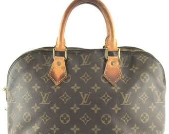 f2e2cd82e4 Louis Vuitton Alma Handbag Hand Tote Everyday Monogram Coated Canvas Satchel