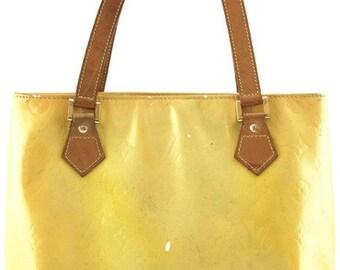 3b3a904d9881 Louis Vuitton Houston Tote Zip Zipper Tote Monogram Yellow Vernis Patent  Leather Shoulder Bag