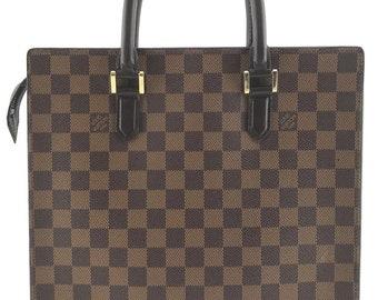 Louis Vuitton Sac Plat Venice Pm Top Handle Zip Zipper Top Laptop Portfolio  Damier Ebene Coated Canvas Tote 67f9466ed354d