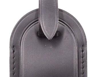 a85303d94c957 Louis Vuitton Black Keepall Speedy Alma Smooth Calf Leather Luggage Tag