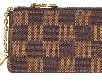 a5338e22dfb0 Louis Vuitton Damier Ebene Rare Key Cles Chain Coin Change Key Card Holder  Wallet