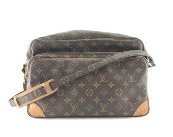15098517a Louis Vuitton Amazon Nil Two Compartment Long Shoulder Messenger Monogram  Coated Canvas Cross Body Bag