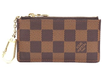 b9a9aa70230d Louis Vuitton Damier Ebene Rare Discontinued Key Cles Chain Coin Change Key Card  Holder Wallet