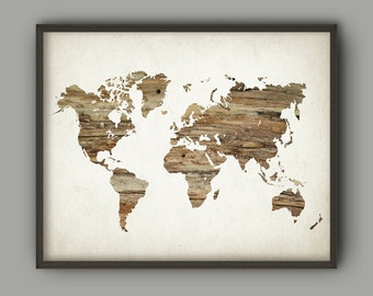 Wood world map etsy map of the world wood minimalist wall art print neutral nursery decor modern travel home decor world map world chart art poster gumiabroncs Image collections