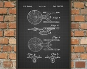 Star Trek USS Enterprise Patent Print - Constitution Class Starship - Star Trek Patent Wall Art Poster 2