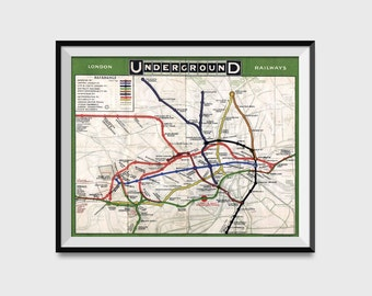Subway Map Wall Art Wall Art Stickers Wall Decal Huge Underground Tube Map.Underground Etsy