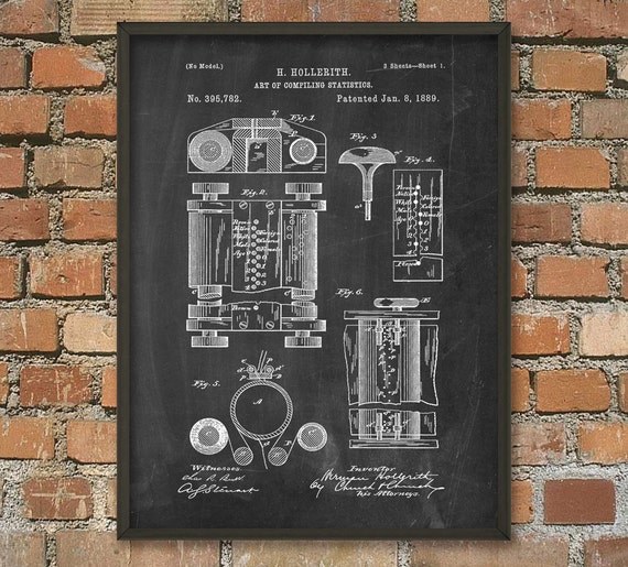 First Computer Patent Print Computer Wall Art Poster   Etsy