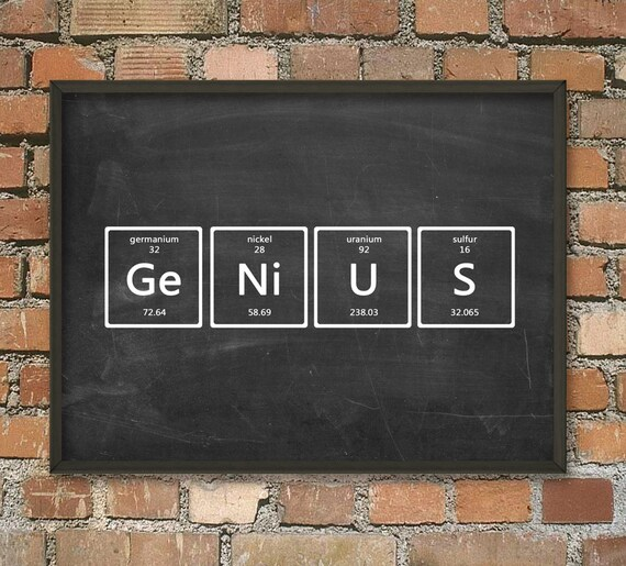 Genius wall art poster periodic table of elements art urtaz Images