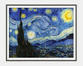 Starry Night by Vincent van Gogh - Giclee Print - Fine Art Reproduction