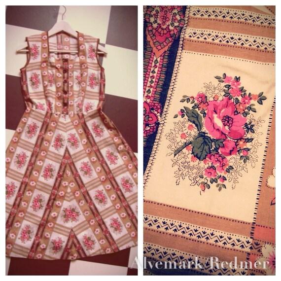 1970's floral bohemian dress