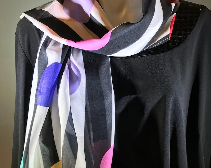 Silky Scarves: geometrics and stripes