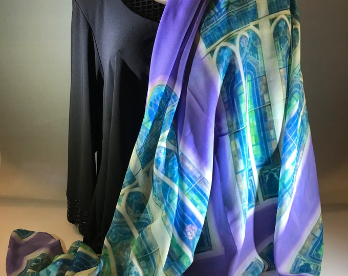 Silky Scarves: stained glass